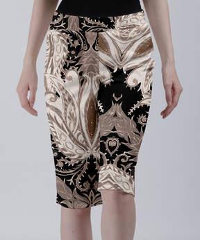 Lily Black & Brown Deco Paisley Bermuda Shorts - Women & Plus