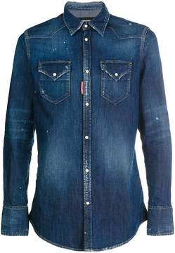 DSQUARED2 washed effect denim shirt