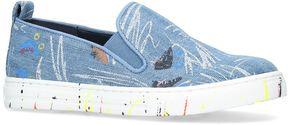 Stella McCartney Denim Leo Paint Splat Sneakers