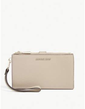 MICHAEL Michael Kors Michael Kors Truffle Brown Timeless Leather Clutch Bag