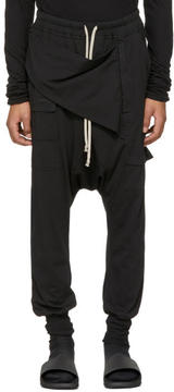 Rick Owens Black Prisoner Memphis Lounge Pants