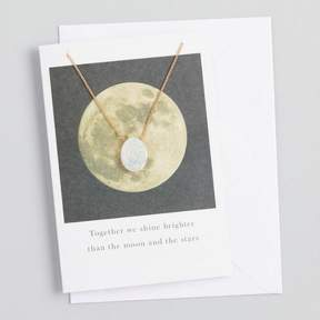 World Market Druzy Pendant Necklace Gift Set with Greeting Card