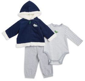 Little Me Baby Boy's Three-Piece Hooded Jacket, Coverall and Pants Set