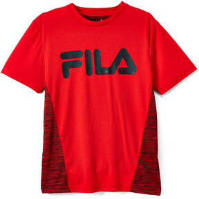 Fila Red 'Fila' Logo Space-Dye Tee - Boys