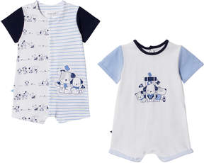 Mayoral Pack of 2 Navy and White Dog Rompers