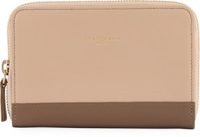 Longchamp Smooth Leather Snap Wallet, Beige - BEIGE - STYLE