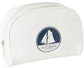 Petit Bateau Toiletries kit in white waxed fabric