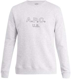 A.P.C. US Star and logo-print cotton-blend sweatshirt