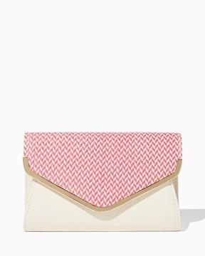 Herringbone Envelope Clutch