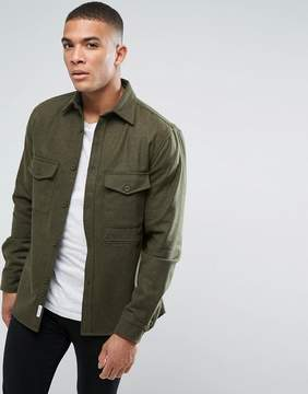 Bellfield Flannel Overshirt With Pockets