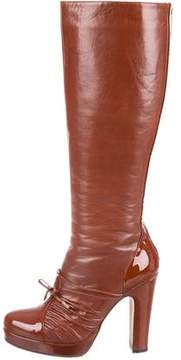 Alessandro Dell'Acqua Leather Knee-High Boots