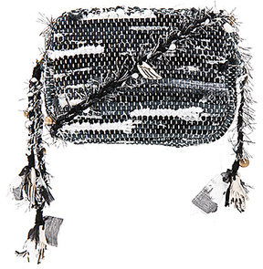 Ancient Greek Sandals Lachesis Crossbody in Black & White.