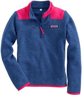 Vineyard Vines Girls Sweater Fleece Shep Shirt