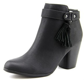 Material Girl Molly Women Round Toe Synthetic Black Ankle Boot.