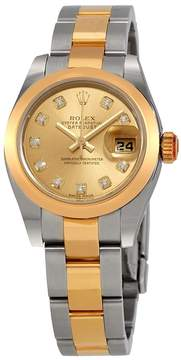 Rolex Lady Datejust 26 Champagne Dial Stainless Steel and 18K Yellow Gold Oyster Bracelet Automatic Watch