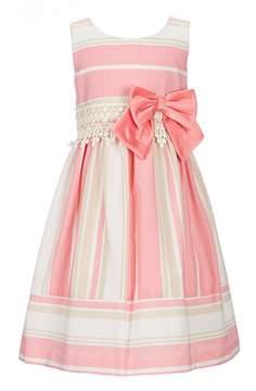 Bonnie Jean Little Girls 2T-6X Stripe Linen-Look A-Line Dress