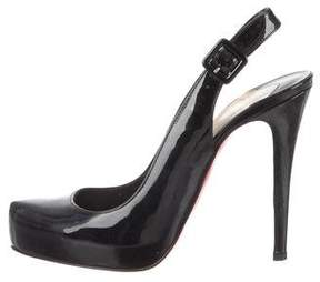 Christian Louboutin Patent Leather Slingback Pumps