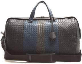 Bottega Veneta Intrecciato tri-colour leather holdall