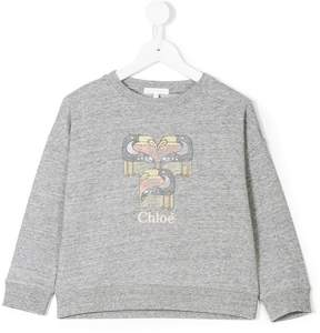 Chloé Kids pelican-print sweatshirt