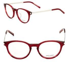 Saint Laurent 49mm Round Optical Glasses