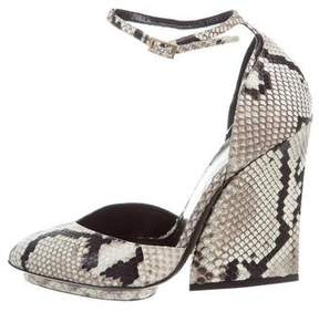 Roberto Cavalli Python Ankle-Strap Pumps w/ Tags