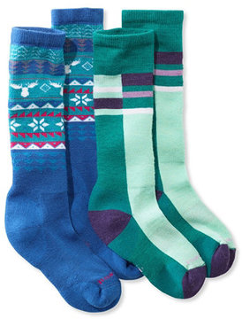 L.L. Bean Kids' SmartWool Socks, Two-Pack