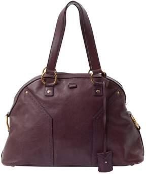 Saint Laurent Muse leather handbag - PURPLE - STYLE