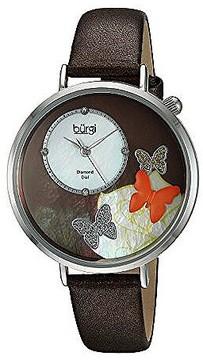 Burgi Mother Of Pearl Dial Ladies Watch