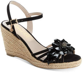 Nanette Lepore Nanette by Quince Floral Wedge Sandals, Created for Macy's Women's Shoes