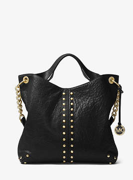 Michael Kors Astor Leather Shoulder Bag - BLACK - STYLE