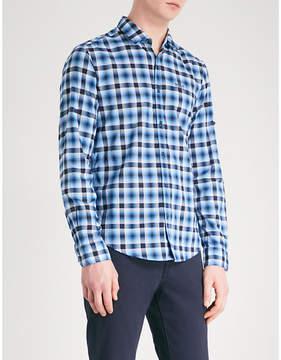 BOSS GREEN Checked regular-fit cotton shirt