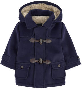 Mayoral Duffle coat with a false fur lining