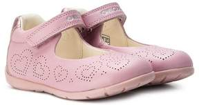 Geox perforated hearts ballerinas
