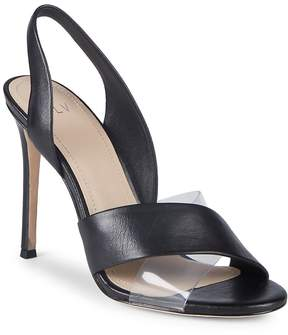 Pour La Victoire Women's Elly Leather & PVC Slingback Sandals