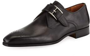 Magnanni Calf Leather Brogue Oxford, Gray
