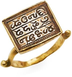 Amrapali Women's 22K Yellow Gold Square Scroll Ring