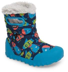 Bogs Toddler Boy's B-Moc Monsters Waterproof Insulated Faux Fur Boot