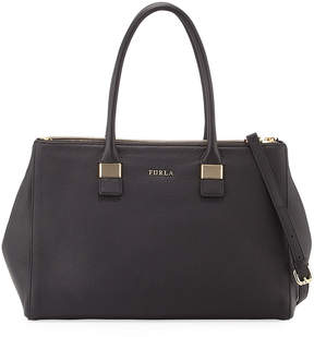 Furla Amelia Large Leather Tote Bag, Black