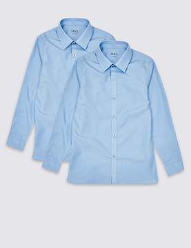 Marks and Spencer 2 Pack Boys' Slim Fit Non-Iron Shirts