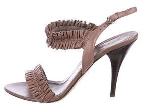 Burberry Ruffled Leather Sandals