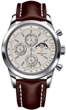 Breitling Transocean Chronograph 1461 Brown Leather Men's Watch