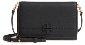 Tory Burch Women's Mcgraw Leather Crossbody Wallet - Black