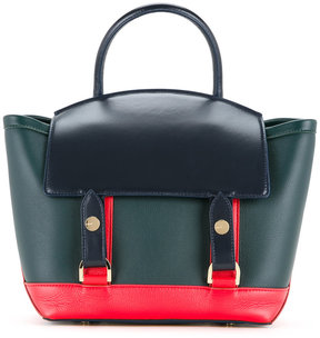 Sacai fold top tote bag