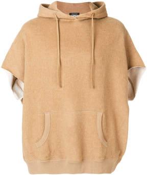 R 13 boxy hooded sweatshirt