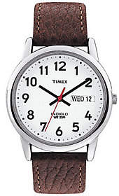 Timex Men's Easy Reader Brown Leather Strap Watch