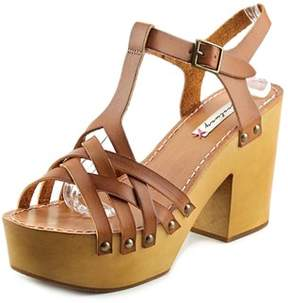 Coolway Chaira Women Open Toe Leather Platform Sandal.
