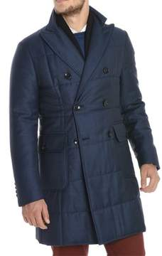 Montecore Men's Blue Wool Coat.