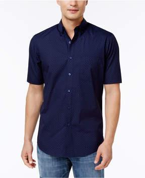 Club Room Men's Dot-Print Cotton Shirt