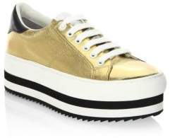 Marc Jacobs Grand Leather Platform Sneakers