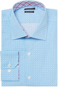 Tailorbyrd Men's Printed Trim Fit Dress Shirt